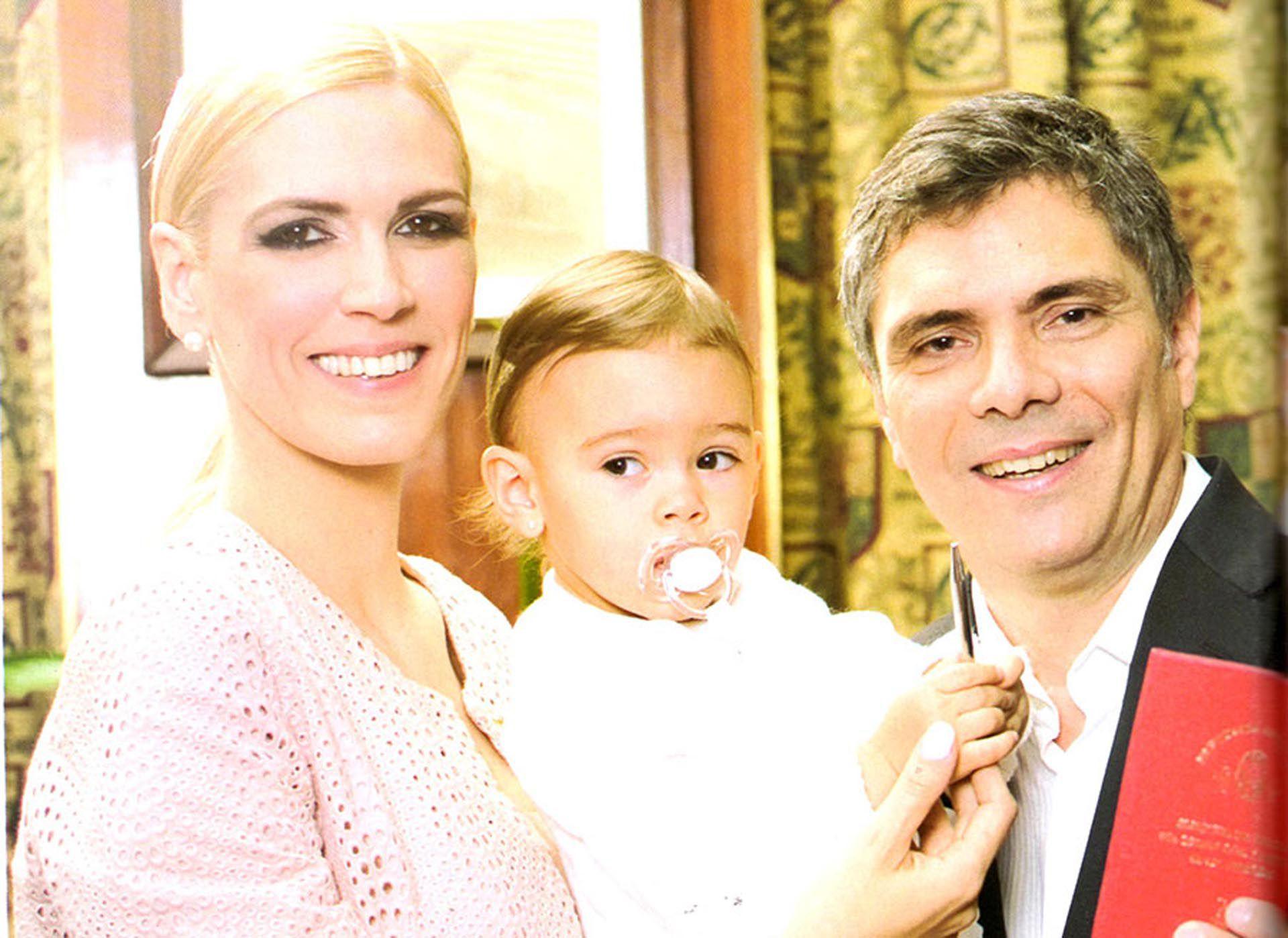 Viviana Canosa, Alejandro Borensztein y su hija, Martina