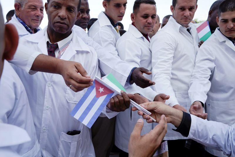 Los médicos cubanos también viajaron a Italia